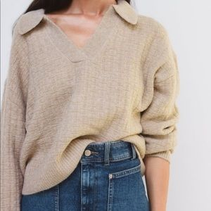 Zara polo collar knit sweater